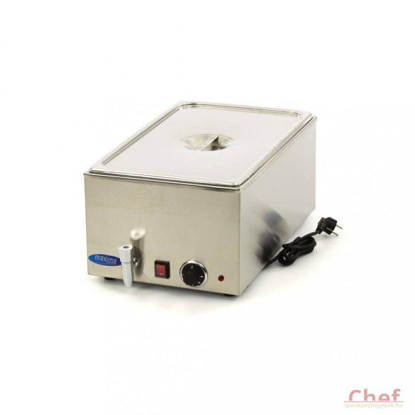 Maxima Bain Marie 1/1 GN /w Tap, Melegentartó csappal GN 1/1 150mm mély edényt tartalmazza a csomag