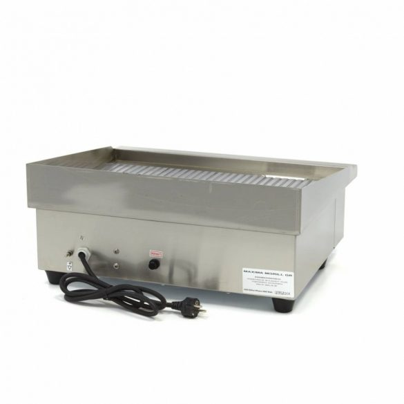 Maxima Ipari rostlap, grill lap, MGRILL Grooved Electric Grill, W548 x D350 mm