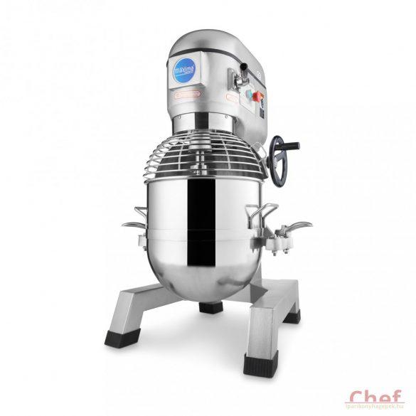 Maxima Ipari dagasztógép, keverőgép, habverő gép, Planetary Mixer MPM 40, 40L