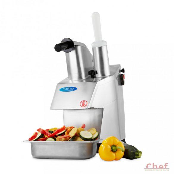 Maxima Ipari szeletelőgép zöldséghez, VC450 Vegetable Cutter, 5 szeletelő tárcsát (kés és reszelő) tartalmaz az ár, 2 és 4mm szeletelő, 3,4,7 mm-es reszelő adaptert