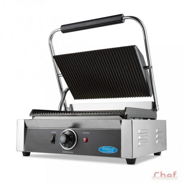 Maxima Ipari kontakt grill, MCG Panini Grooved Contact Grill, W335 x D220 mm