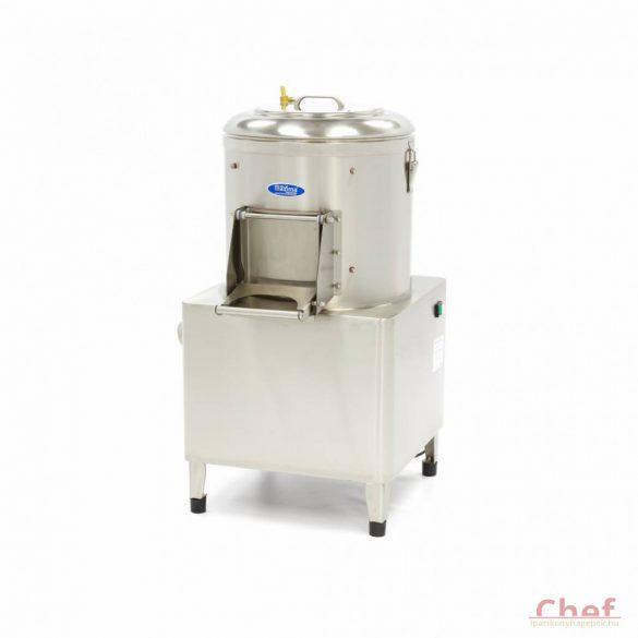 Maxima Ipari burgonyakoptató zöldség tisztítógép, Peeler MPP 15, kapacitás: 15kg, 300kg/óra
