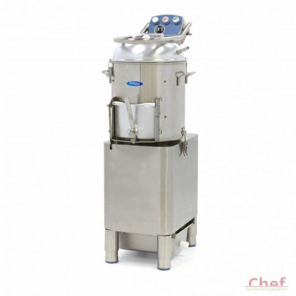 Maxima Deluxe Peeler DPP 15, Burgonya koptató, zöldség tisztítógép, kapacitás: 15kg, 300kg/óra