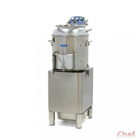 Maxima Ipari burgonyakoptató zöldség tisztítógép, Deluxe Peeler DPP 20, kapacitás: 20kg, 400kg/óra