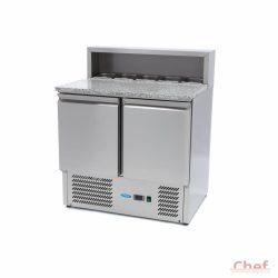 Ipari hűtőszekrény és hűtött munkaasztal Chef