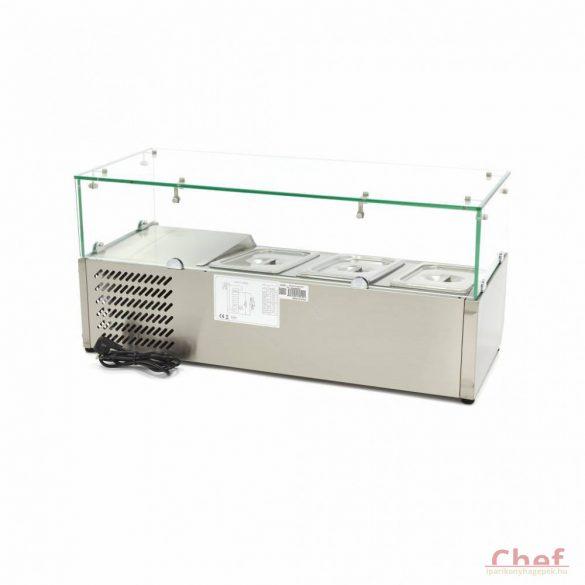 Maxima Ipari hűtőszekrény, 3*1/3 95cm - 7*1/3 Refrigerated Display Curve asztali