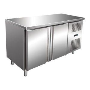 Maxima Ipari hűtött munkaasztal, Refrigerated Work Table WTC 2, munkaasztal hűtőszekrény 314l