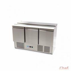 Maxima Saladette SAL903 SLT, hűtőszekrény 3 ajtós, 400l