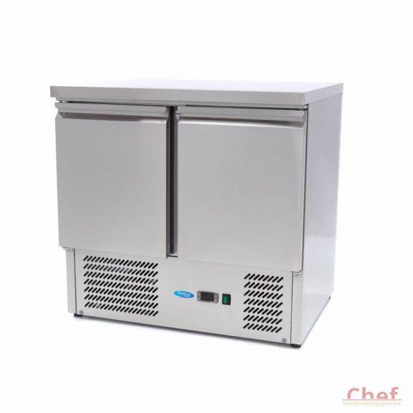 Maxima Ipari hűtött munkaasztal, Refrigerated Work Table SAL 901, munkaasztal hűtőszekrény 257l