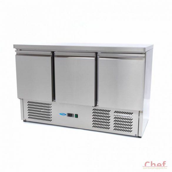 Maxima Ipari hűtött munkaasztal, Refrigerated Work Table SAL 903, munkaasztal hűtőszekrény 400l