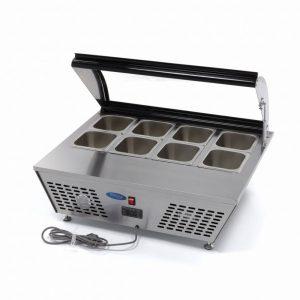 Maxima Ipari hűtőszekrény, Mini Table Saladette 67L, Bemutató asztali 8×1/6 vagy 4×1/3 GN, 67l