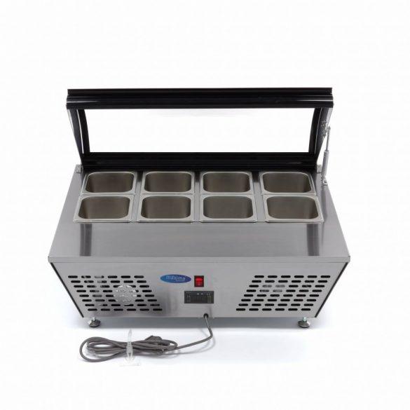 Maxima Mini Table Saladette 67L, Bemutató asztali hűtőszekrény 8×1/6 vagy 4×1/3 GN, 67l
