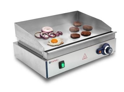 HENDI Grill, Rostlap, grill lap sima felülettel, 550*380mm, 2400W