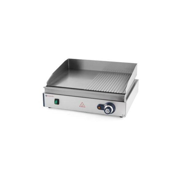 HENDI Ipari Grill, Rostlap, grill lap sima és rácsos felülettel, 550*380mm, 2400W
