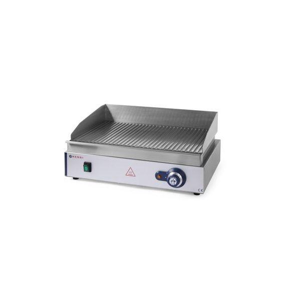 HENDI Ipari Grill, Rostlap, grill lap bordás rácsos felülettel, 550*380mm, 2400W