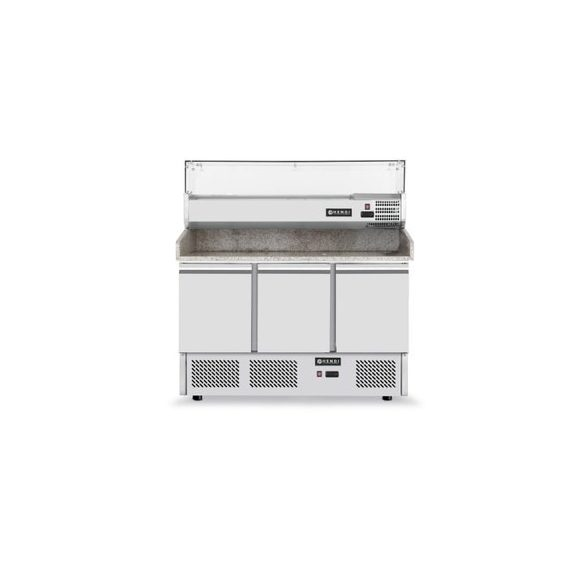 HENDi Asztali Pizza hűtő 3 ajtós, Mérete:   1400x700x(H)1445