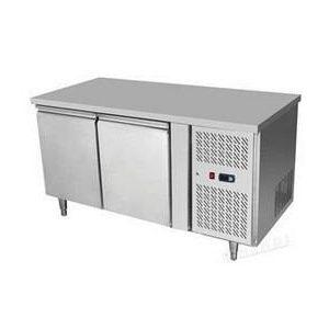 HENDi Ipari hűtött munkaasztal, Asztali hűtőszekrény 2 ajtós, Mérete: 1360x700x(H)850