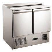HENDi Ipari Saláta hűtő asztal, Mérete: 900x698x(H)850