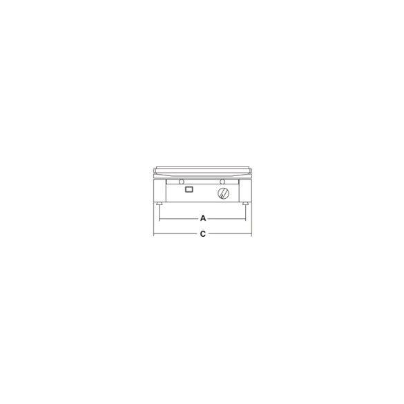 SIRMAN Ipari grill, szendvics sütő, PDM 3000, időzítővel