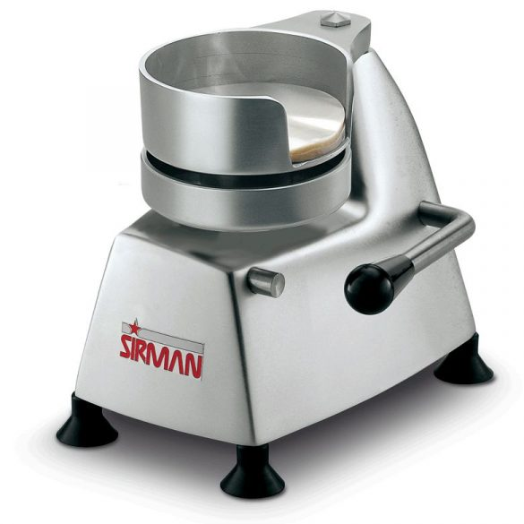 SIRMAN Hamburger pogácsa formázó, Multipatty egy gép több formázófej méret 100, 130, 150, 180