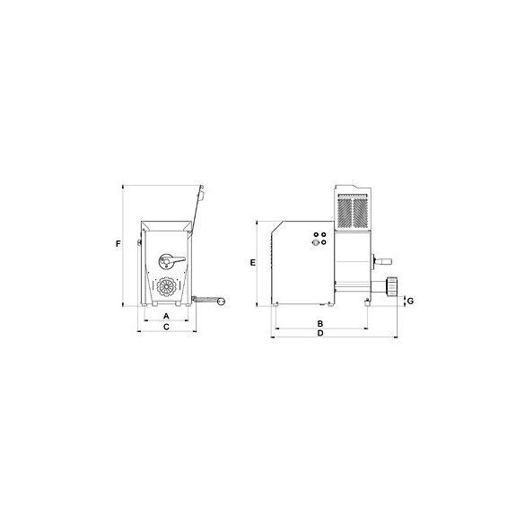 SIRMAN Ipari tésztagép Sinfonia 2 2kg tészta készítés kapacitás,  gyártás 4,2kg/óra kapacitás