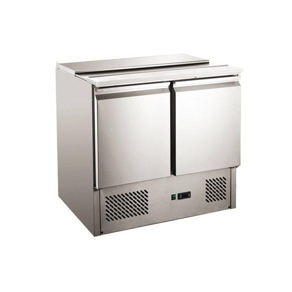 TEFCOLD Ipari hűtött munkaasztal, Asztali hűtőszekrény, Mérete: 1360x700x(H)880
