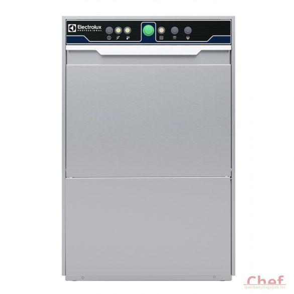 Electrolux ipari mosogatógép, Pohármosogató, ürítő pumpa és öblítőszer és mosogatószer adagolóval 2,7kW, 40*40