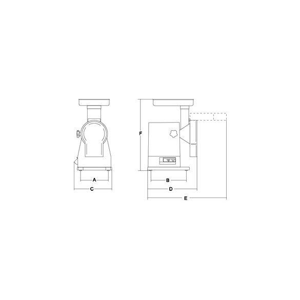 SIRMAN Ipari sajtreszelő gép, Athos, szeletelő tárcsával együtt