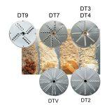 SIRMAN szeletelőgép tárcsa, reszelő DTV választható 1, 2,3,4,7,9 mm