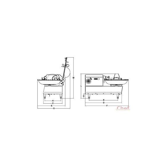 SIRMAN ipari Kutter, Katana 6, horizontális pépesítő, 6 liter