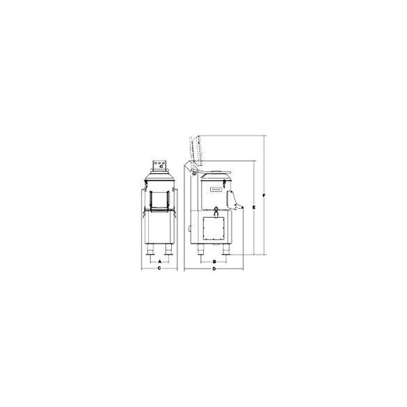SIRMAN Ipari burgonyakoptató PPJ 10, kapacítás 10kg,