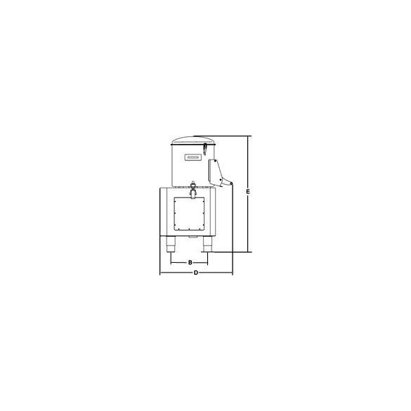 SIRMAN Ipari burgonyakoptató PPJ 20 SC, kapacítás 10kg,