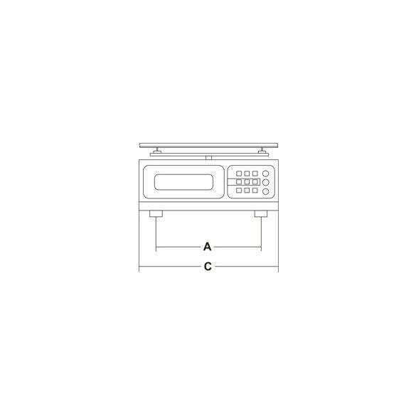 SIRMAN Ipari konyhai mérleg, Minneapolis 5/1 flat Inox, asztali 5kg