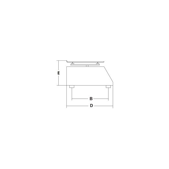 SIRMAN Ipari konyhai mérleg, Minneapolis 5/1 Inox, asztali 5kg