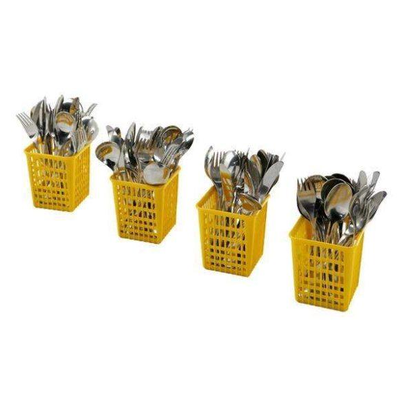 Ipari mosogatógép kiegészítő 4 db sárga evőeszköztartó