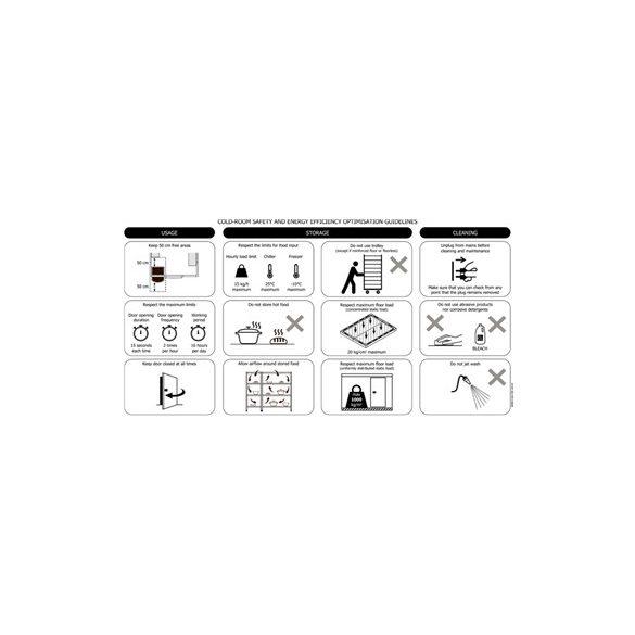 TEFCOLD Ipari hűtőkamra egyszerű telepítés 1700*1400mm