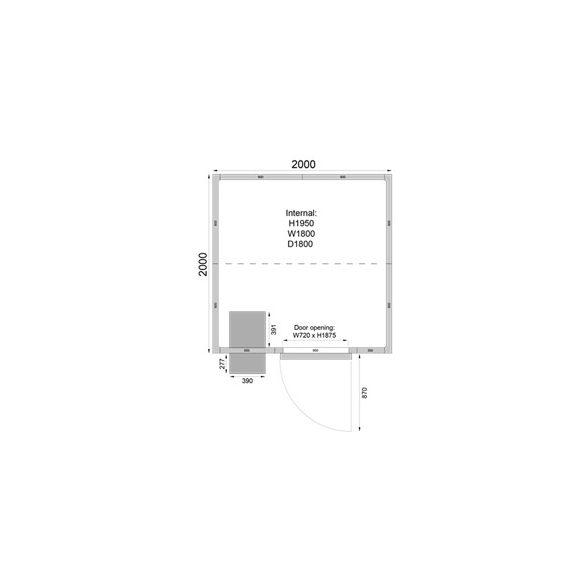TEFCOLD Ipari fagyasztó hűtőkamra egyszerű telepítés,2300*2300mm