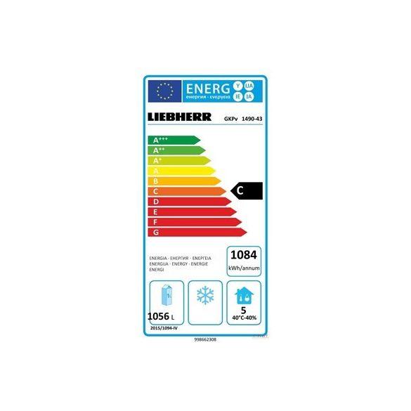 Liebherr Ipari hűtőszekrény, GKPv 1490-43, Profi Premium line, 1361l, 2*GN 2/1