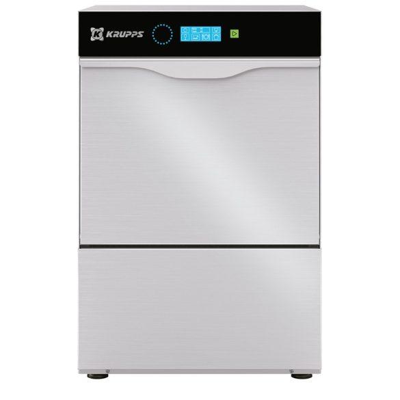 KRUPPS ipari mosogatógép C432, Pohár és tányérmosogató gép 230V, 2,86 kW, érintőképernyős vezérléssel, lefolyó szivattyú külön rendelhető