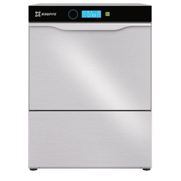 KRUPPS ipari mosogatógép C537, Pohár és tányérmosogató gép 230V, 3,12kW, érintőképernyős vezérléssel, lefolyó szivattyú külön rendelhető