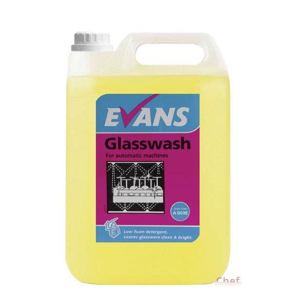 Evans Gépi Mosogatószer pohárhoz 5 literes,1-3 ml/1liter víz