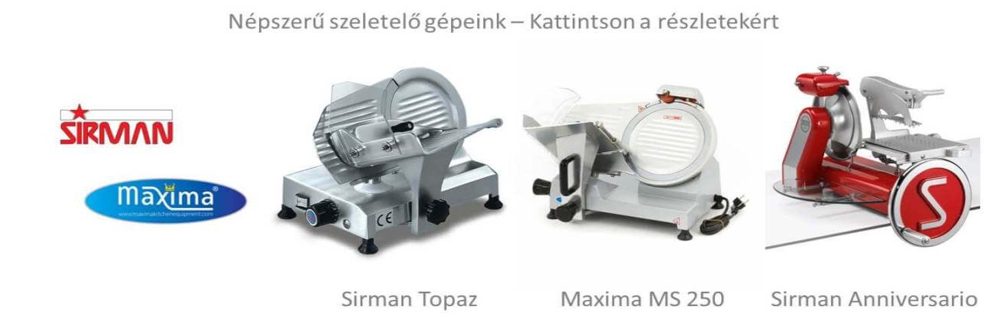 Ipari szeletelőgép felvágottakhoz és sajthoz