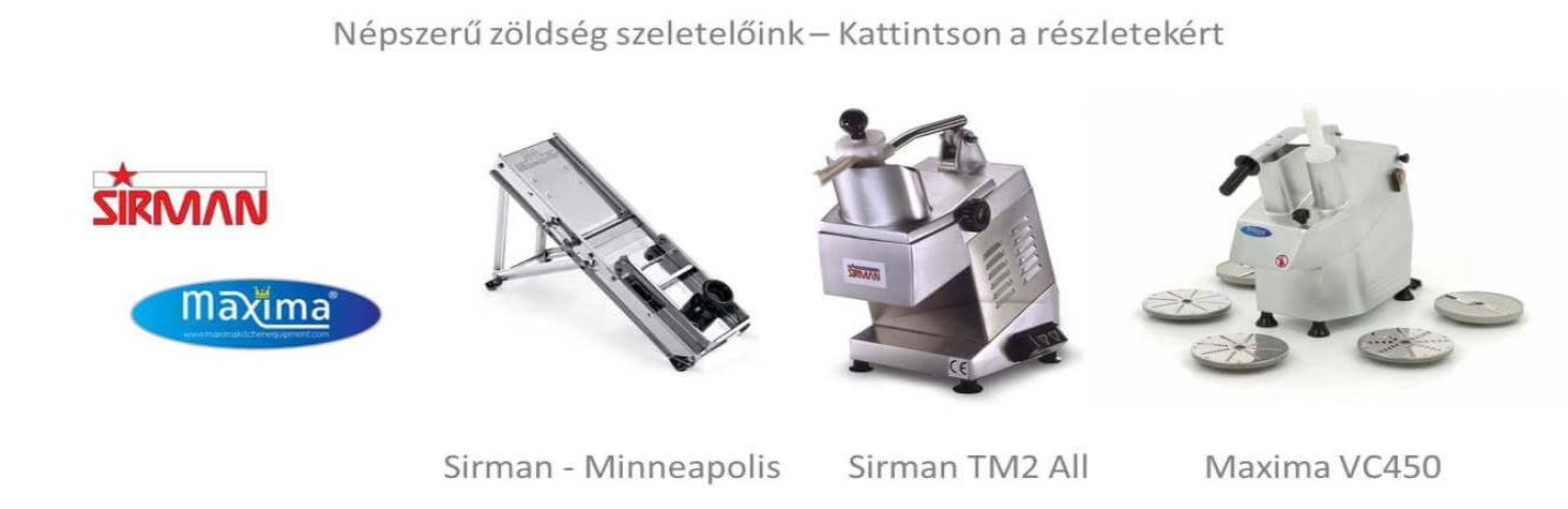 Ipari szeletelőgép zöldséghez